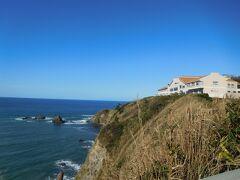 恋人岬が見えてきました。