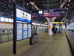 富山には、23分で到着! 体験乗車には、ちょうど良い乗車時間だったかな。 金沢駅より富山駅のホームの方が、ガラス張りで明るく開放的。