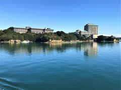 パルケエスパーニャ遊覧船からの志摩観光ホテル
