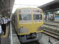 7:34発 三島駅 伊豆箱根鉄道駿豆線 普通 修善寺駅行き(520円)に乗車。新幹線からの乗り換え時間が11分で、乗換距離が意外とあり、WC寄っていたら忙しかった。