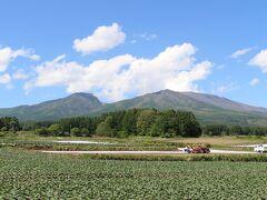 浅間山の麓を通って帰ります。