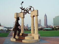 センテニアル・オリンピック公園(Cenntenial Olympic Park)へ。1996年に開催されたオリンピックを記念した公園です。