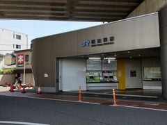 ●JR新加美駅  帰りはJR新加美駅から。 JR加美駅とは、ほぼ隣り合わせです。 こちらは、2019年に開業した「おおさか東線」の駅になります。
