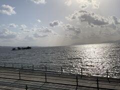 しじみで有名な宍道湖が目の前に