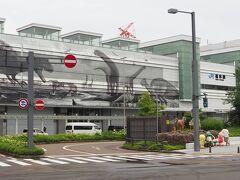 福井駅に到着しました。駅舎には恐竜の絵が描かれています。。