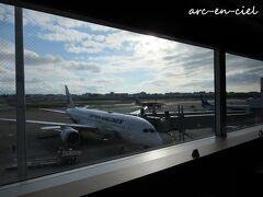 福岡空港では、徐々に晴れ間も見えてきて、
