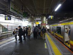 3月に南武線に乗ったときは快速電車だったので40分で川崎に着いたが、今回は朝の各駅停車。丸1時間かかった。おかげでよく寝た(笑)