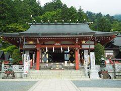まずは参拝。立派な拝殿ですが、本社は大山山頂にあります。