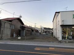 見たかったのは、山崎屋旅館… のはずだったのになんと更地。