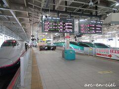 仙台駅で、新幹線勢ぞろいのショット(*^^*)。