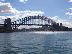右側の橋脚近くにシドニー・ルナ・パークの観覧車が見えます。 (Luna Park Sydney)