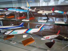 空港で見学。 大分空港はJASを大事にしていてくれるので好き。