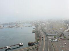 08:00前 ホテルから景色 濃霧