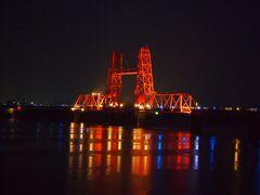 ちなみにこちらは前日レンタカーで訪れた筑後川昇開橋のライトアップです