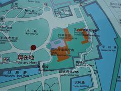 地図の茶色い建物