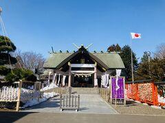 今度は中嶋神社にやって来ました。あと二ヶ月もすると桜が満開になります。
