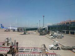予定より半日遅れで函館空港到着