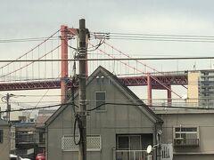 若戸大橋を左手に見ながら。もうすぐ小倉です。