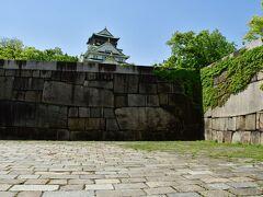 大坂城 山里丸から天守を望む。