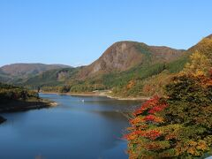 鳴子ダム 2日間紅葉を見た中で一番きれいだった