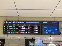 スタートは東京駅から。。 8:48のやまびこで先ずは郡山を目指します!