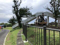 公園になっており、汽車の乗り物に乗れます