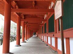 大仏様の次はバスに乗って春日大社へ  朱塗りの社殿が美しいです