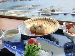 加茂水族館でランチ。鱧定食にしました。