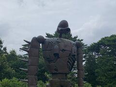屋上は写真撮影可です。 ロボット兵がいます。