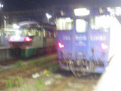 終点の早岐駅ではシーサイドライナーと特急みどりが停まっていました。私は キハ675に乗り込みました。
