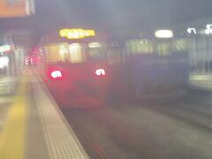 諫早駅で長与経由の最終便に乗り換えです。