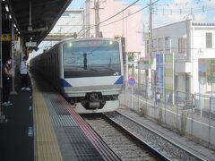 お隣天王台まできたものの、結局ここで更に次の電車で次の8時43分発の勝田行を待って乗換 ようやく取手以遠へ行く勝田行が来る