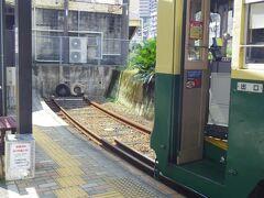 旅行2日目は電車内では売っていないという1日乗車券を百貨店で買ってから、やって来た4系統の路面電車に乗り込み、浜町アーケードから終点の崇福寺まで乗り下車。