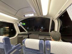 <名鉄名古屋駅>  パノラマ車、前方が開けていて最高! これに乗りたかったから嬉しい♪