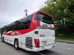 ★11:35 八王子バス停から僅か1時間35分で山中湖に到着。