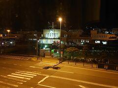 札幌ドームから約1時間小樽ドーミーインに到着 部屋から見える小樽駅