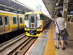 秋葉原駅からスタートです。臨時電車の「特急あやめ祭り」に乗ります。