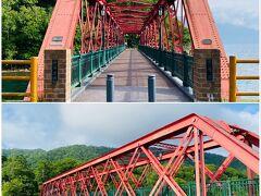 山線鉄橋。明治時代に造られて、その後移築されたとのこと。