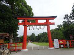 上賀茂神社(678年に造営されたという神話の時代より続く古社) 一の鳥居