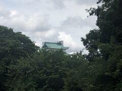 遠くに金の鯱のいない天守閣が見える(^_^;)