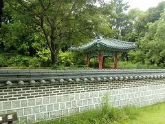 国際庭園のコーナーへ向かいます。これは韓国庭園です。