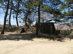 本丸の西方向にある石垣。