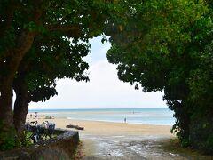 コンドイ浜  ほとんど人に会わずだったが、ここは少しだけ賑わっていたっけ。