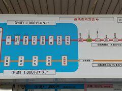 市内まで1,000円。