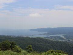 それでも途中の白雲台からの景色は格別。 佐渡島が一望に見渡せました。