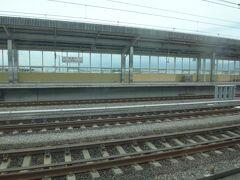 新富士。 この駅から見る富士山が好きなんだけど今日は雲の中。残念。