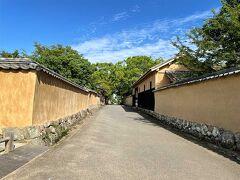 杵築城から、北台武家屋敷跡へ。