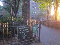 ブルックリン・ハイツの中でも、 イーストリバーに面した散歩道は風光明媚。