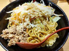 ●つけ麺専門店 三田製麺所@ハルカス界隈  ここの店舗限定の「にんにく油そば」 にんにく大好きなので、このメニューに飛びつきました(笑)。