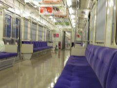 旅行三日目は早起きして長崎県の早岐駅からの始発に乗りましたが、車内ガラガラでした。